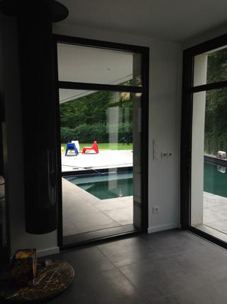 La baie avant le vitrail.
